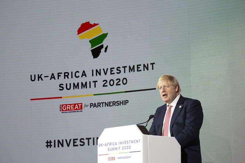Prime Minister Boris Johnson speaking at the opening of the UK-Africa Investment Summit, in London, 20 January 2020.  Picture: DFID/Michael Hughes