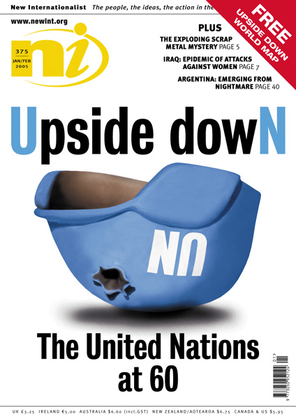 New Internationalist issue 375 magazine cover