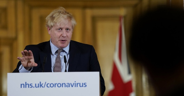 Prime Minister Boris Johnson during a press conference on 16 March, with Chief Medical Officer Prof Chris Witty and Chief Scientific Adviser Sir Patrick Vallance. Picture by Andrew Parsons
