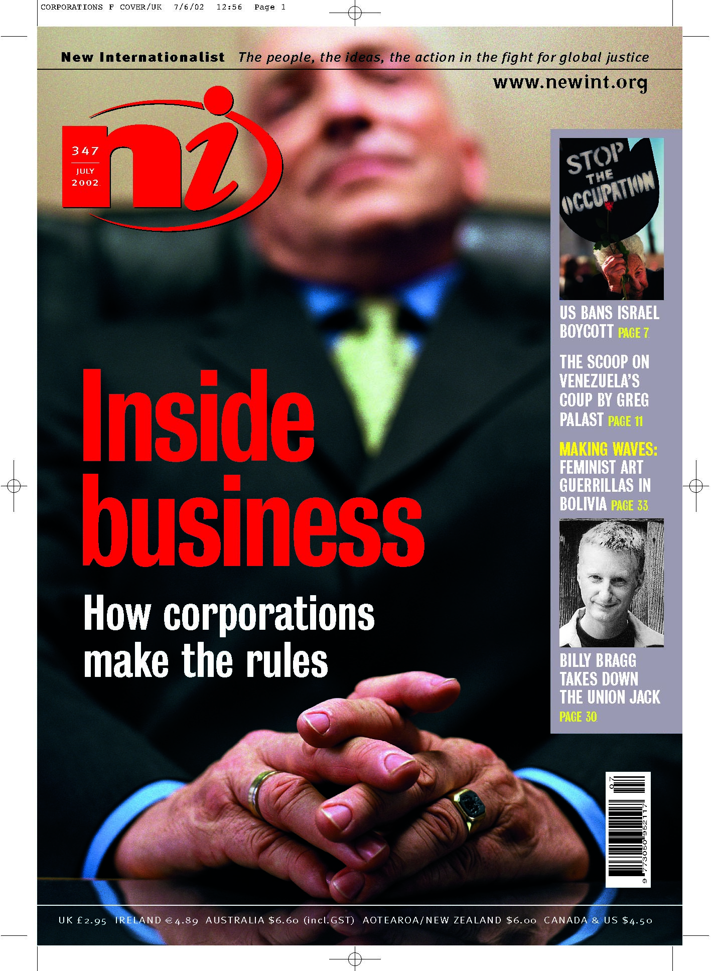 New Internationalist issue 347 magazine cover