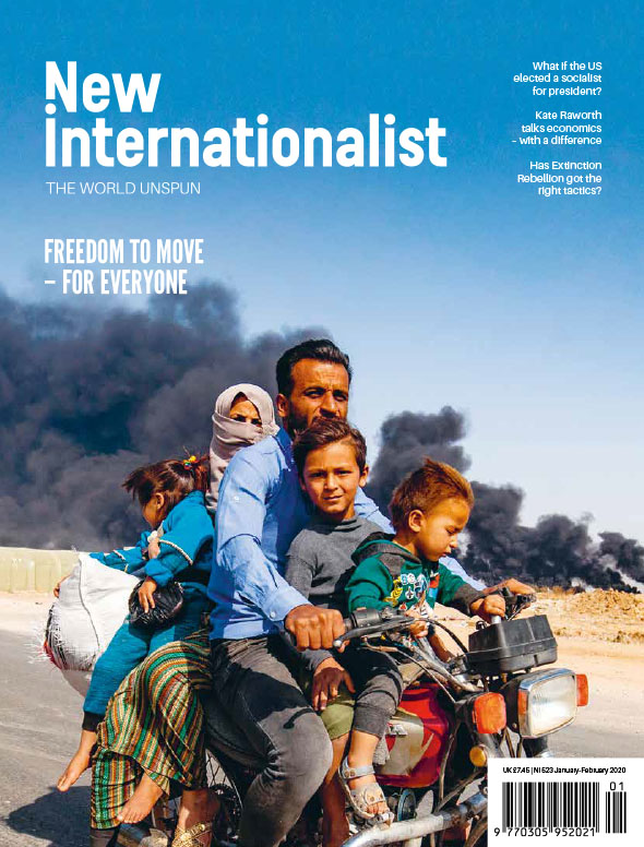 New Internationalist issue 523 magazine cover
