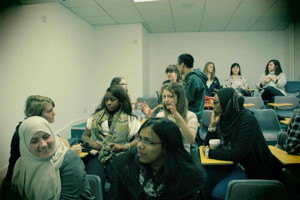 Students enjoying a New Internationalist Workshop