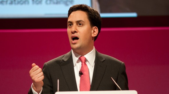 Ed milliband making a speech