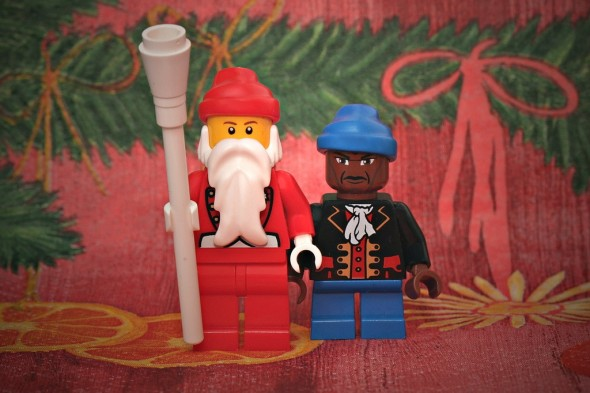 Lego Santa and Zwarte Piet