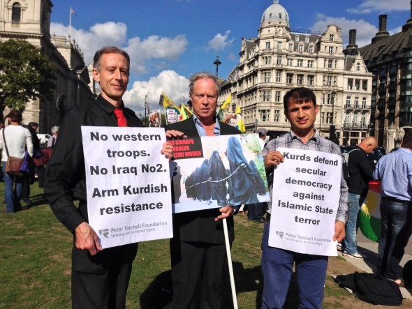 Peter Tatchell at protest