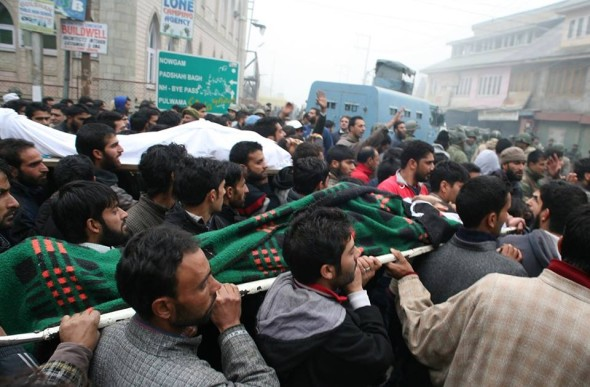 Funeral procession in Kashmir