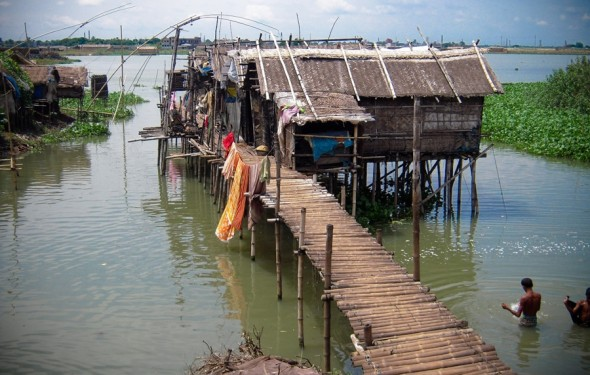 Stilt houses Bangladesh