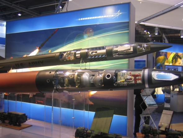 Weapons for sale at the DSEI arms fair