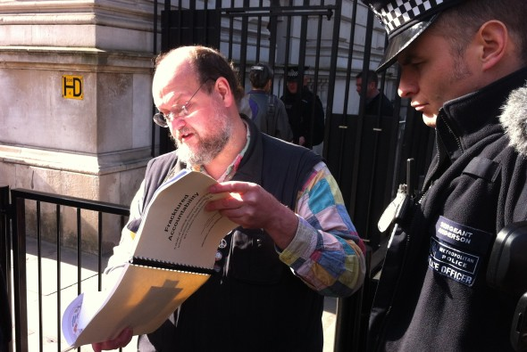 Paul Mobbs at Downing Street