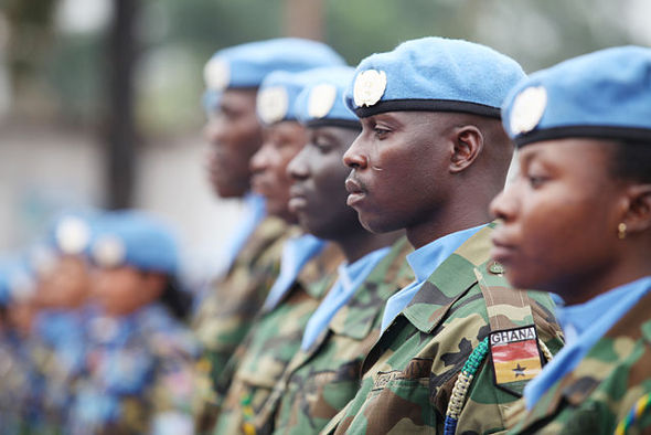 UN Peacekeepers Day celebration in the DR Congo