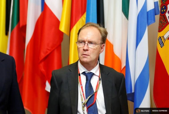Sir Ivan Rogers: Britain's ambassador to the EU leaving the EU Summit in Brussels