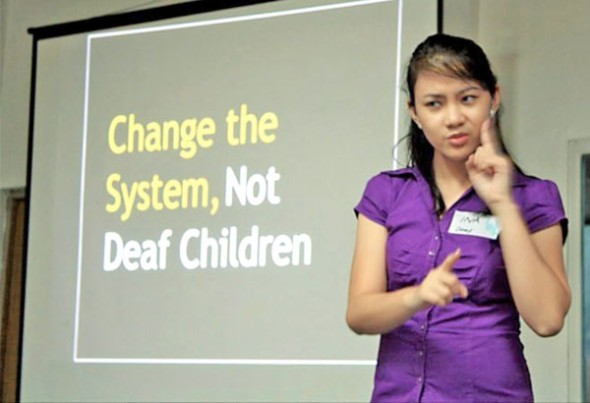 I aim to help integrate the Deaf and the hearing together in unity ...