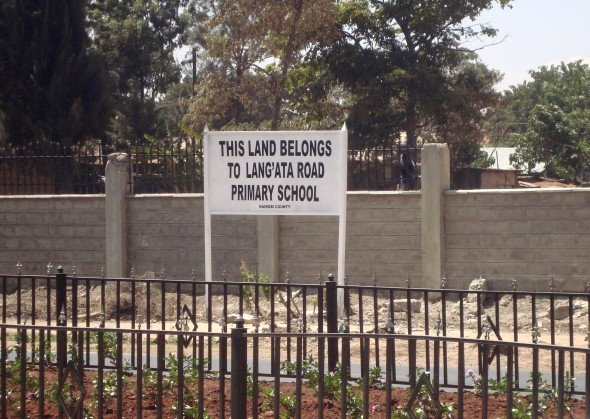 Sign outside Langata School