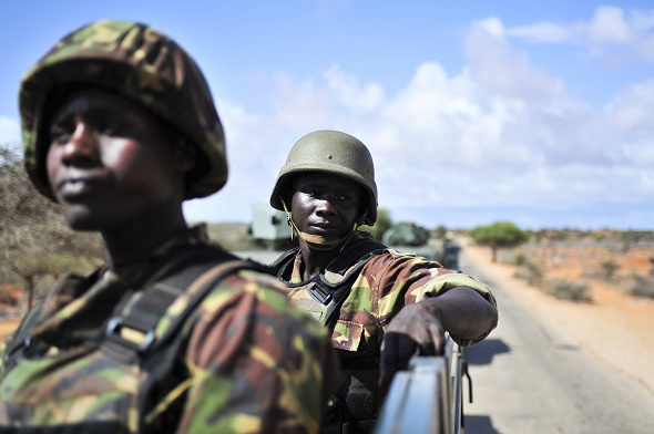 Members of the Kenyan Defense Forces