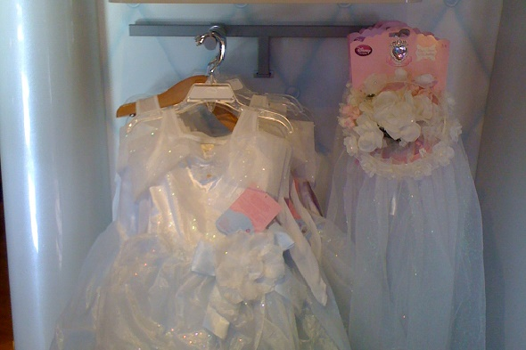 Child-size wedding dresses