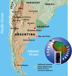 Argentina New Internationalist - Argentina map of country