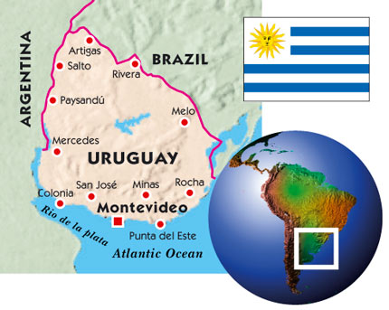 Uruguay New Internationalist - Uruguay river world map
