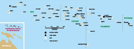 Map of Micronesia