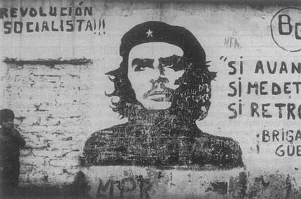 Che stencil on the street