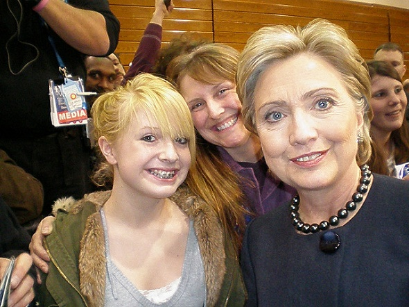 Selfie with Hillary