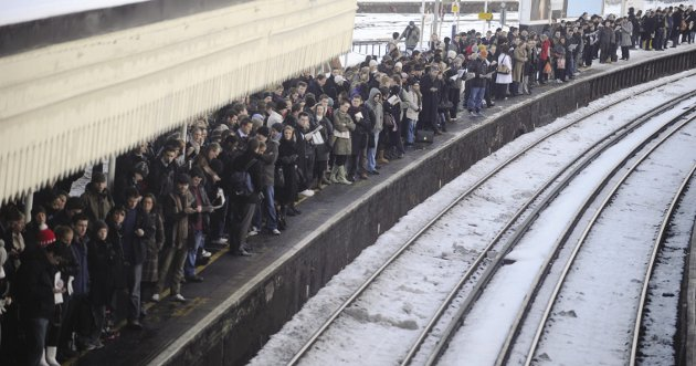Passengers at Clapham Junction, south London. According to a 2017 Legatum Institute poll 76 per cent of British passengers want the railways in public ownership. Photo: Toby Melville/Reuters