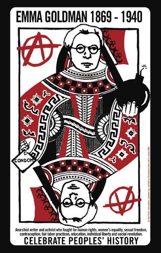 Ben Rubin, Emma Goldman/Celebrate People's History, 2002, courtesy of Justseeds.org