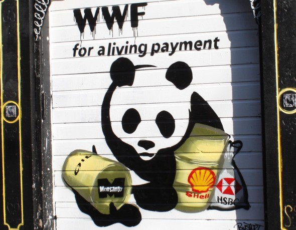 WWF graffiti