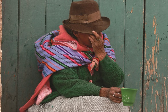 An indigenous Peruvian woman