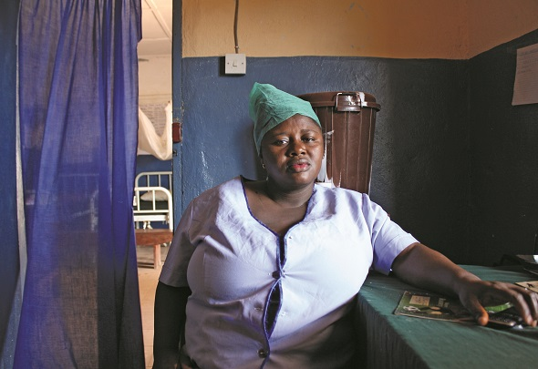 Nurse in Sierra Leone
