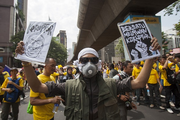 Anti-corruption protesters in Malaysia
