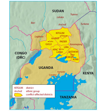maps of uganda. map of uganda. Map of Uganda