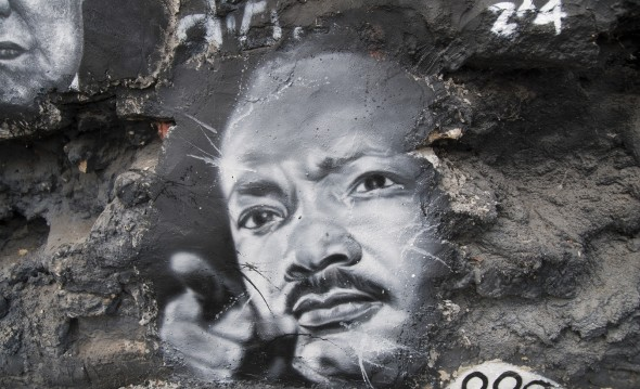 Mural showing Martin Luther King Jr [Related Image]