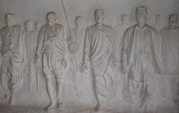 Salt March bas relief
