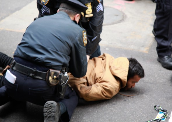 Occupy protester being arrested