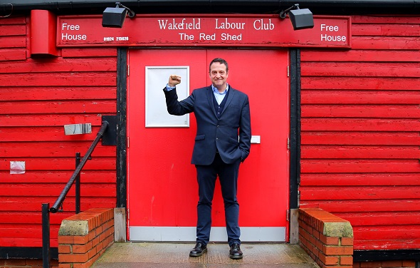 Mark Thomas outside the Red Shed