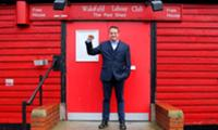 Thumb for Mark Thomas outside the Red Shed