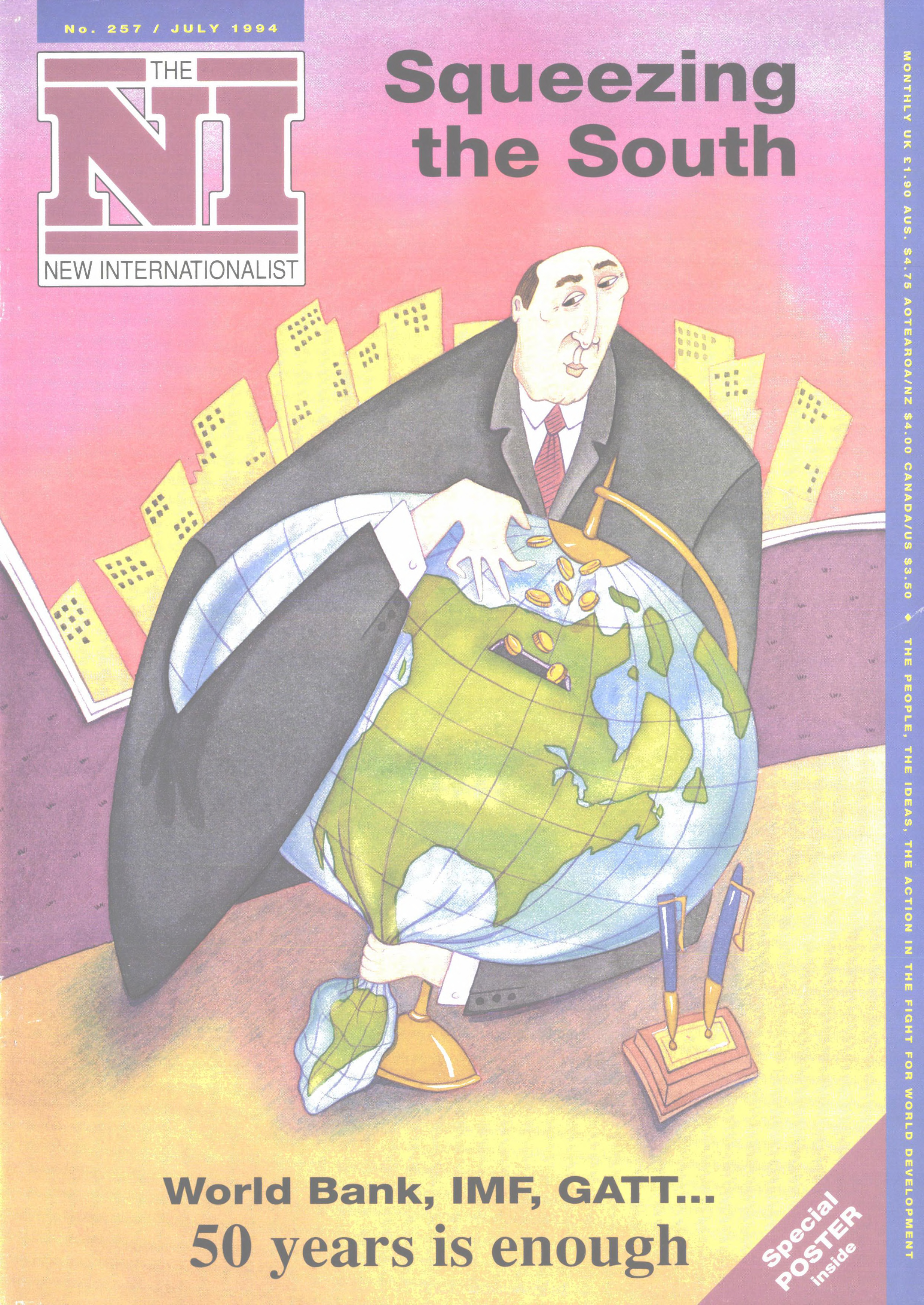 New Internationalist issue 257 magazine cover
