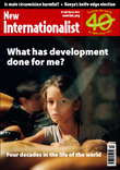 Cover of the What has development done for me? of New Internationalist