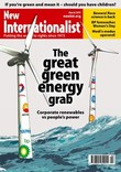 Cover of New Internationalist magazine - The great green energy grab