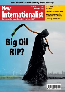 New Internationalist issue 477 magazine cover