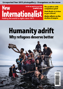 New Internationalist issue 489 magazine cover