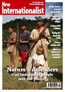 New Internationalist issue 446 magazine cover