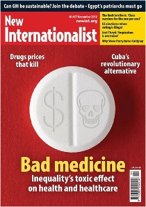 New Internationalist issue 457 magazine cover