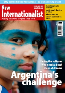 New Internationalist issue 463 magazine cover