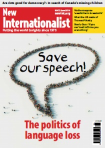 New Internationalist issue 473 magazine cover