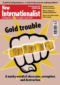 New Internationalist issue 475 magazine cover