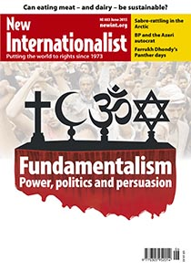 New Internationalist issue 483 magazine cover