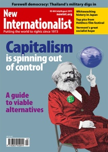 New Internationalist issue 484 magazine cover