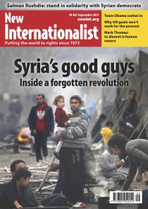 New Internationalist issue 485 magazine cover
