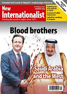New Internationalist issue 490 magazine cover